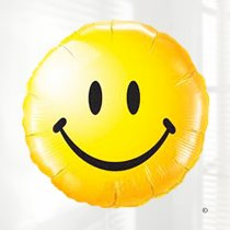 Yellow smiley face balloon Code JGFB4783211B  | Local delivery or collect from shop only