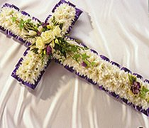 Purple & White Cross