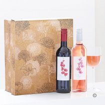 Spanish Merlot Wine and Californian Zinfandel Rosé Wine Duo Gift Set Box Code: JGFD0147RRWPB