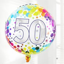 50th birthday balloon Code: JGFB850HBZF  | Local delivery or collect from shop only