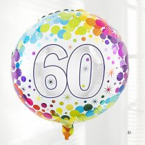 60th birthday balloon Code: JGFB88160HB | Local delivery or collect from shop only