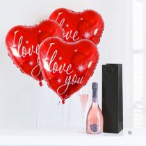 Love Hearts and Sparkling Nua rosé wine Code: JGFG025130RW | Local Delivery Or Collect From Shop Only
