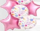 Get Well Balloon Bouquet Pink Star Code: JGFG68454GW | Local delivery or collect from shop only