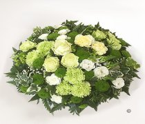 Contemporary Green and Ivory Woodland Posy Code: JGFF65690CWP | Local Delivery Or Collect From Shop Only