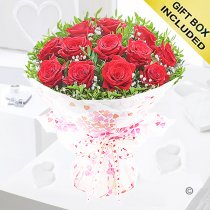 12 red rose hugs and kisses Code: JGF424012RR | Local Delivery Or Collect From Shop Only