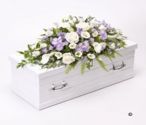 Children's Blue & Lilac Casket Spray Code: F13111BS