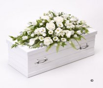 Children's White Casket Spray Code: F13111WS