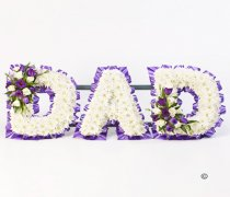 Dad Purple and White Massed Tribute Code: F13331MS | National and Local Delivery
