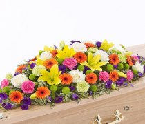 Vibrant Casket Spray Code: F13620VS | National and Local Delivery