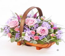 Pink and Lilac Mixed Basket Spray Code: F13070MS