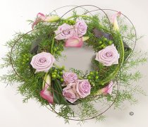 Lilac Woodland Wreath Code: JGFF5240LWW | Local Delivery Or Collect From Shop Only