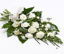 Classic White Rose Sheaf Tribute Code: F13491WS | National Delivery and Local Delivery Or Collect From Shop