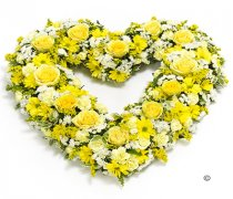 Yellow and White Open Heart Code: F13471YS | National and Local Delivery