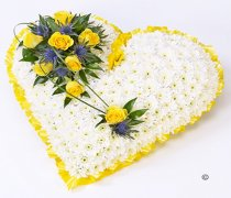 Yellow Classic Heart Code: F13481YS | National and Local Delivery