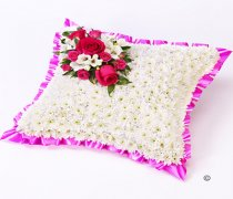 Classic Pink and White Cushion Code: F13721PS | National and Local Delivery