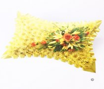 Classic Yellow and Orange, Yellow Massed Pillow Code: JGFF920YOP | Local Delivery Or Collect From Shop Only