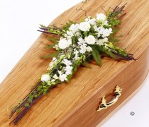 White Orchid and Rose Willow Cross Code: F13561WS | National and Local Delivery