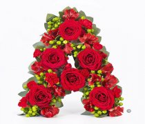 Red and Berry Mixed Loose Letter Tribute Code: F13301RS | National and Local Delivery