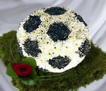 Football Funeral Flowers / 3D Football Code: JGF2301FB