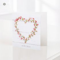With Love Heart Greetings Card Code: C05711ZF | National and Local Delivery