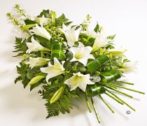 White Longiflorum Lily Spray  Code: JGFF4250FS  | Local Delivery Or Collect From Shop Only