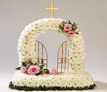 Gates of Heaven Funeral Flowers  Code: TR143 WH