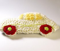 Motor Car Funeral Flower Tribute  Code: TR146WH