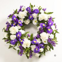 Blue and White Classic Wreath Code: F13740BS  | National Delivery and Local Delivery Or Collect From Shop