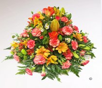 Classic Mixed Orange and green Posy Code: JGFF4150GOP | Local Delivery Or Collect From Shop Only