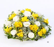 Rose and Freesia Posy Yellow and White Code: F13410YS | National and Local Delivery