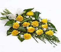 Classic Yellow Rose Sheaf Tribute Code: F13491YS | National Delivery and Local Delivery Or Collect From Shop