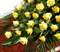 Rose Casket Spray Yellow Code: TR109Y