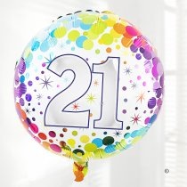 21st birthday balloon Code: JGFB2821HB | Local delivery or collect from shop only
