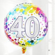 40th birthday balloon Code: JGFB2840HB  | Local delivery or collect from shop only