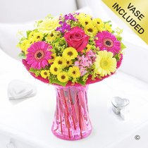 Summer vibrant vase Code: JGFS889SV | Local delivery or collect from shop only